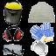 6 schutzvorrichtungen im lieferumfang