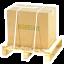 Sichere verpackung verpackung an palette befestigt