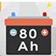Als Werbeartikel: Batterie 80 Ah